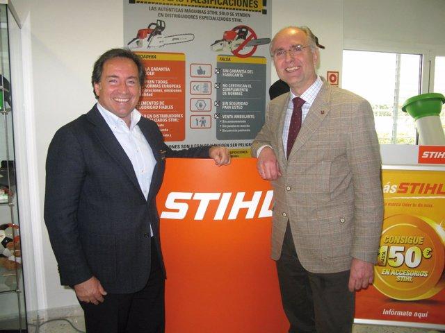Bernhard Iber, Director Gerente de STIHL y Sito Pons