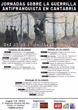 Cartel de las jornadas sobre la guerrilla antifranquista