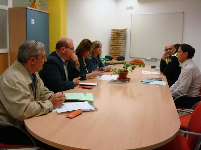 Reunión en el Ayuntamiento de Jaén sobre caminos rurales