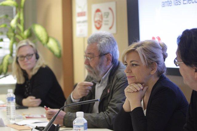 Cándido Méndez y Elena Valenciano