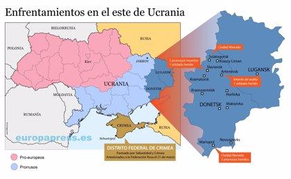 ¿Dónde están siendo los enfrentamiento en Ucrania?