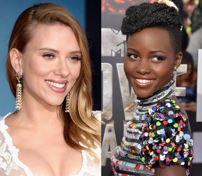 Scarlett Johansson y Lupita Nyong'o