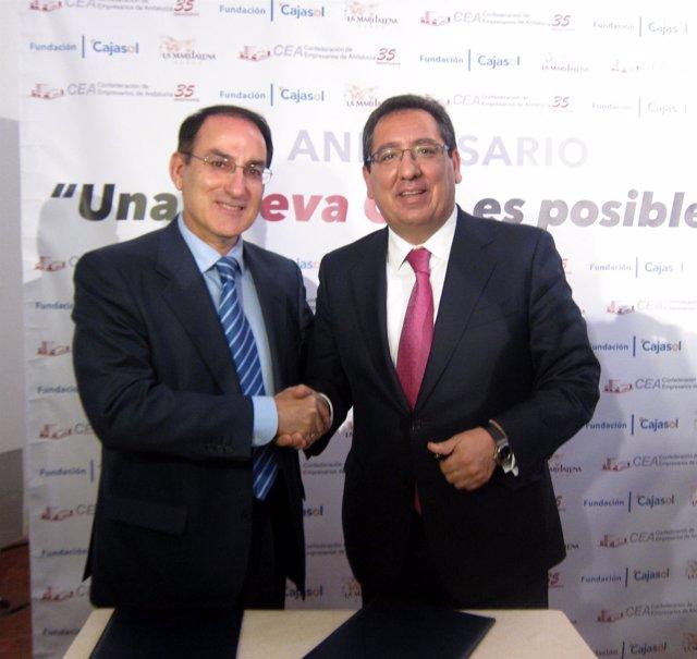 González de Lara,CEA, y Antonio Pulido, Cajasol