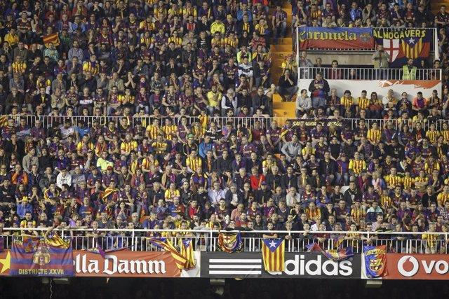 Grada de Mestalla en la Final de Copa