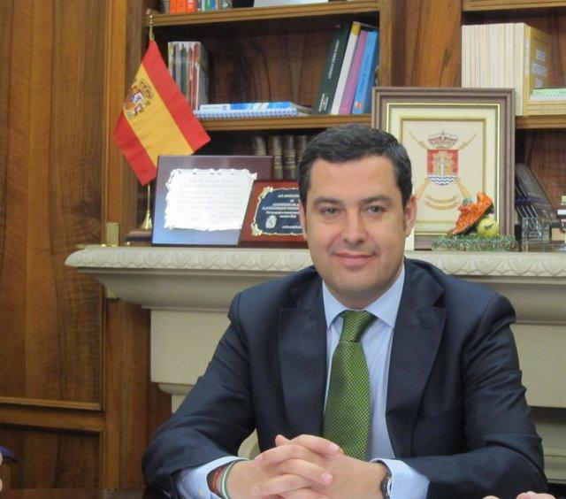 El presidente del PP-A, Juan Manuel Moreno Bonilla.