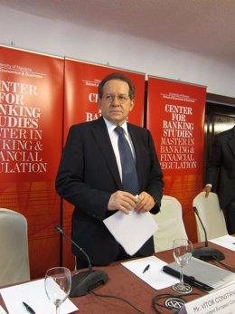 El vicepresidente del Banco Central Europeo (BCE), Vitor Constancio