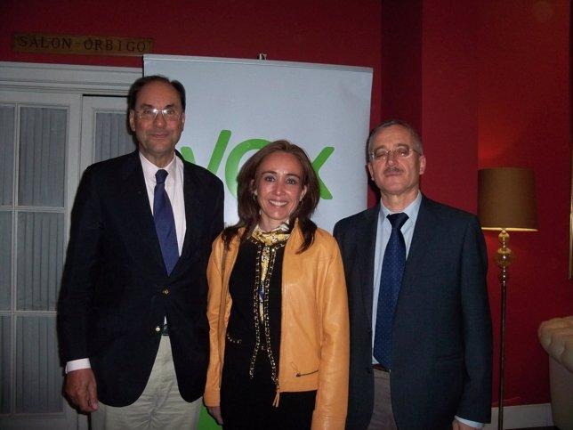 Alejo Vidal-Quadras, María Jesús González Fueyo y José Antonio Ortega Lara.