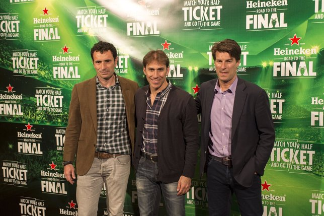Molina, Martín Vázquez y Michael Laudrup