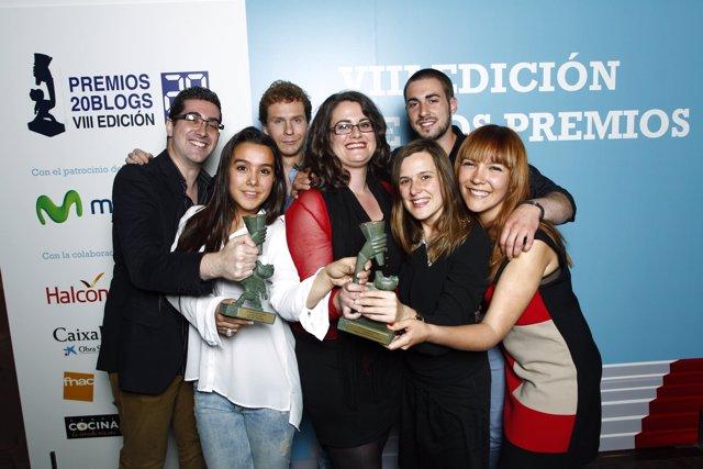 Entrega de los Premios 20blogs