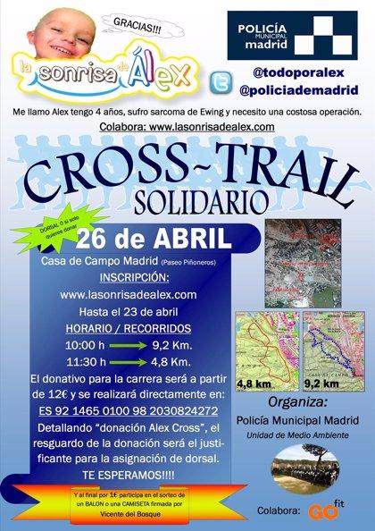 Policías municipales celebran mañana una carrera solidaria para ayudar a Álex, un niño con cáncer de huesos