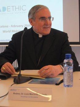 El cardenal arzobispo de Barcelona, Lluís Martínez Sistach