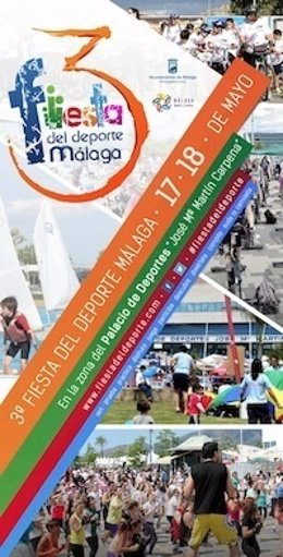 Cartel de la tercera edición de la Fiesta del Deporte de Málaga