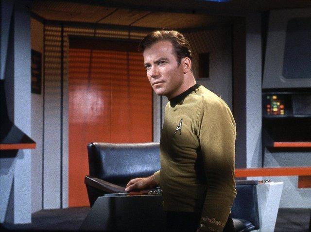 William Shatner en su papel del capitán Kirk en Star Trek
