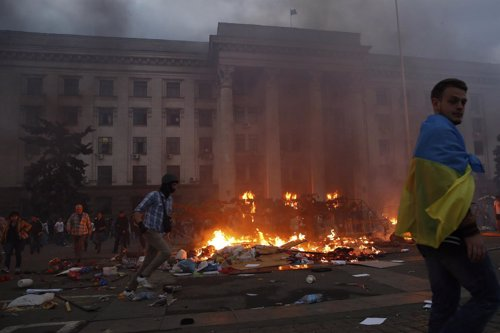 Incendio en Odesa, Ucrania
