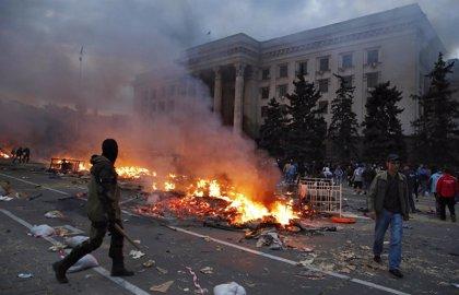 Moscú acusa a Ucrania de provocar directamente el incendio de Odesa