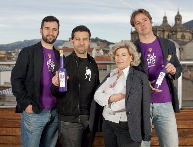 Andrés García, Juan Montoro, Mª Dolores Garrido y Alberto Molinero