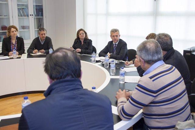 El vicepresidente de la Xunta y los representantes de los consejos