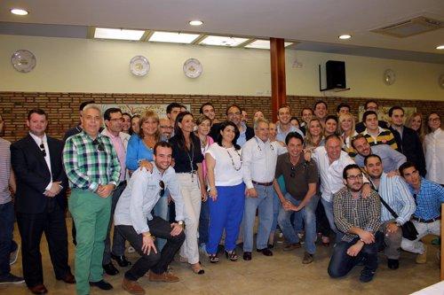 Rus con alcaldes, concejales y portavoces de la Ribera Alta