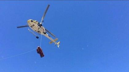 Una mujer de 74 años, herida grave al romperse la cadera en el embalse de Navacerrada