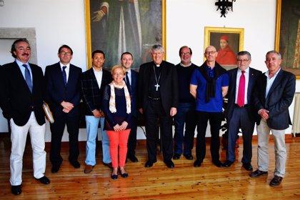 El arzobispo de Toledo recibe a  la directiva de la Junta pro-Corpus