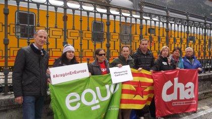 Tomey (CHA) subraya que llevará al Parlamento europeo la reapertura del ferrocarril internacional del Canfranc