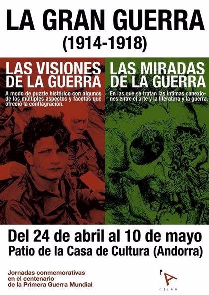 'La Gran Guerra. Visiones y miradas', en el Centro de Estudios Locales de Andorra
