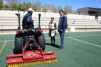 El Ayuntamiento de Teruel acomete el mantenimiento del campo 'Luis Milla'
