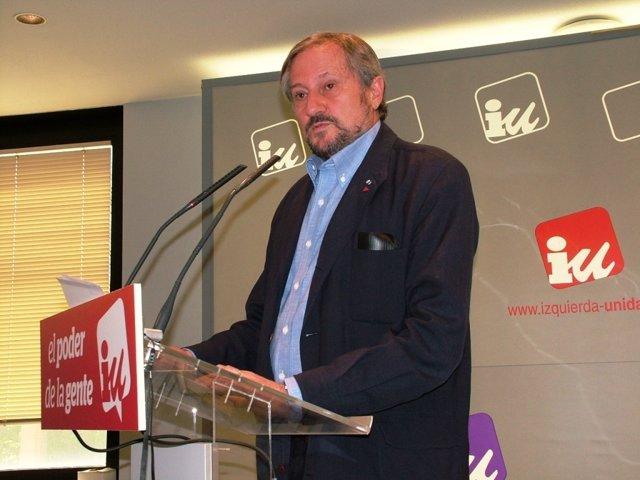 El candidato de IU al Parlamento Europeo, Willy Meyer