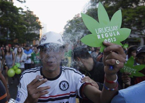 Marihuana Uruguay, manifestación en Motevideo