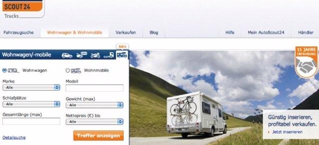 Nueva web de caravanas y autocaravanas de AutoScout24