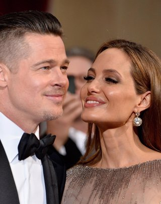 Actor Brad Pitt and actress Angelina Jolie attend the