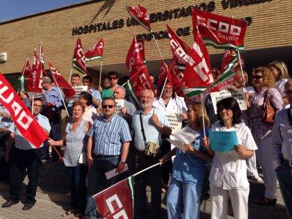 Más de 2.000 personas apoyan las concentraciones de CCOO para exigir contratos a jornada completa en el SAS