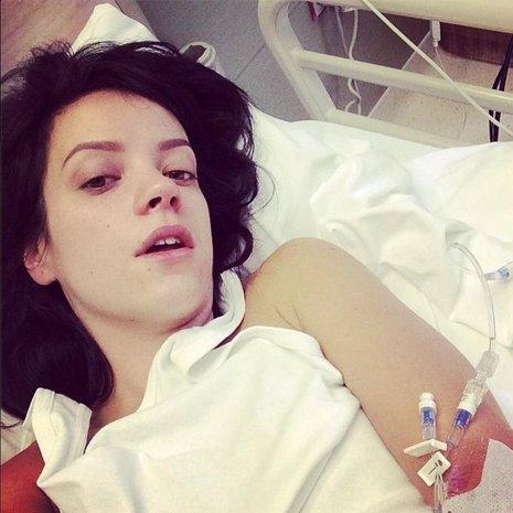 Lily Allen ingresada en el hospital