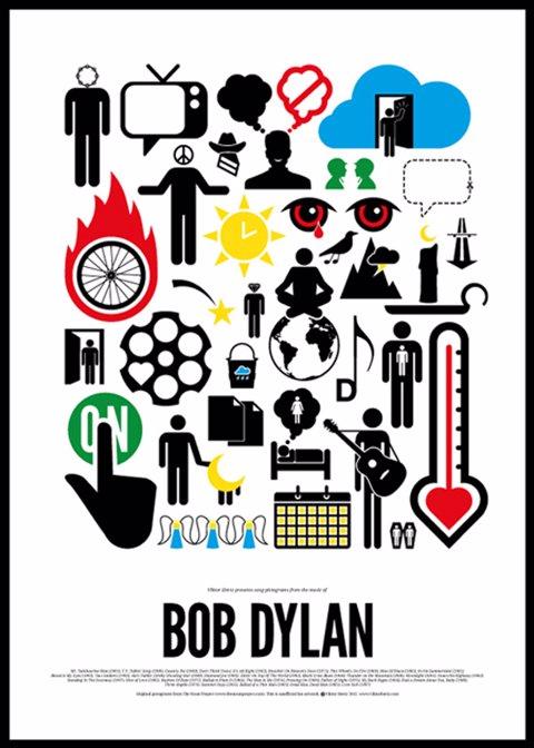 Pictogram rock póster