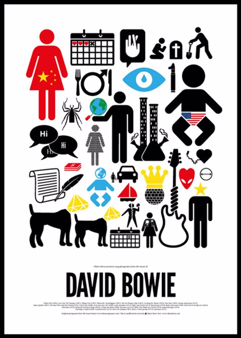 pictogram rock poster