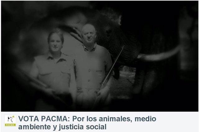 Fotograma del vídeo de PACMA anulado por la Junta Electoral Central