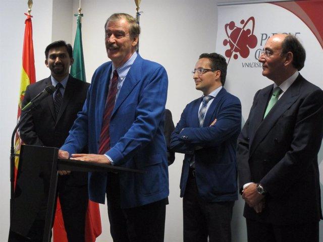 Vicente Foz en la presentación de la nueva sede de UST Global en Salamanca