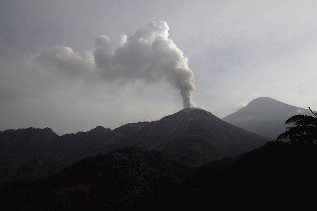 Volcán Santiaguito, en Guatemala