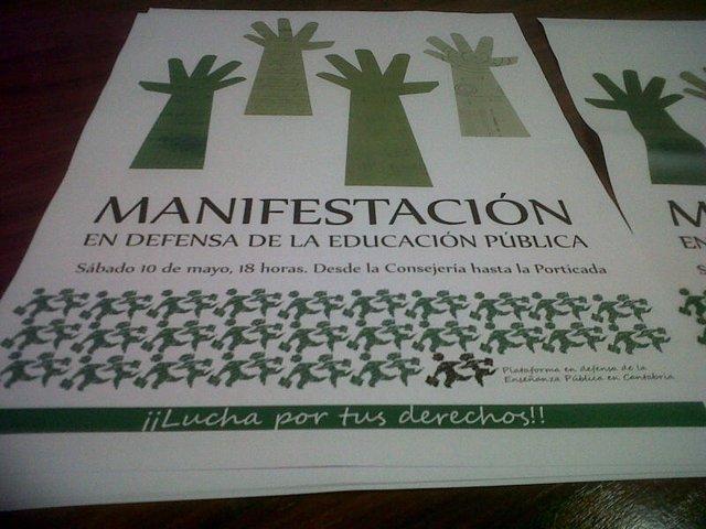 Cartel de la manifestación del sabado 10 de mayo