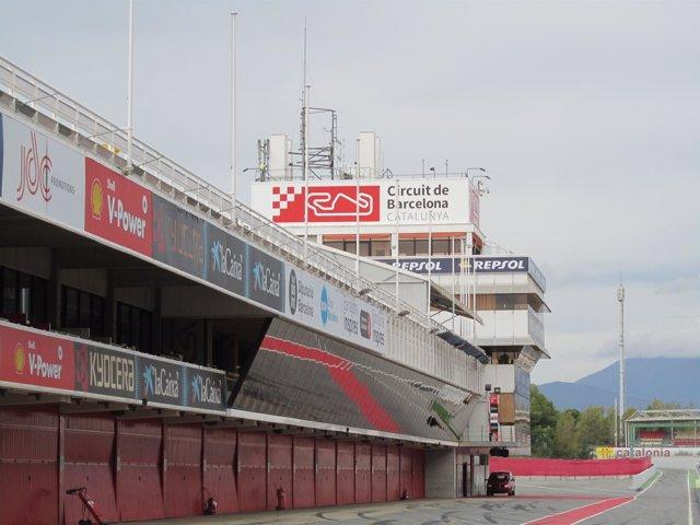 'Pit Lane' Y Torre De Control Del Circuit De Barcelona - Catalunya