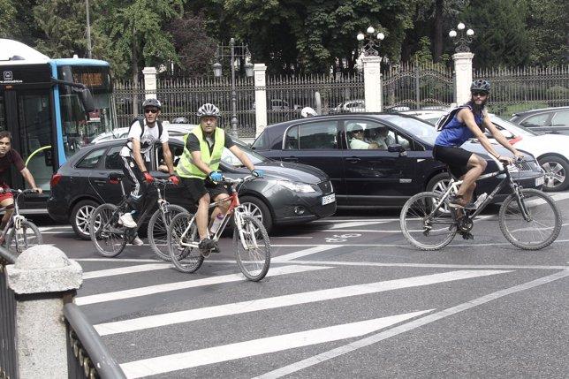 Recursos de ciclistas por Madrid
