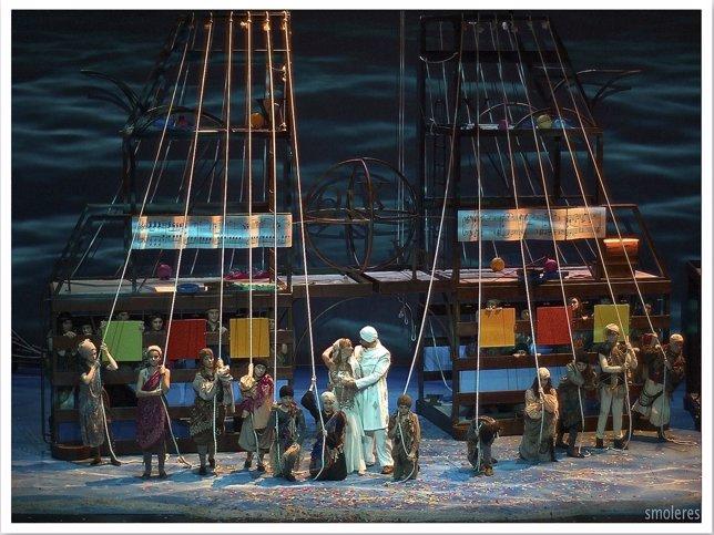 Imagen de la ópera La Princesa Árabe de la Ópera de Cámara de Navarra