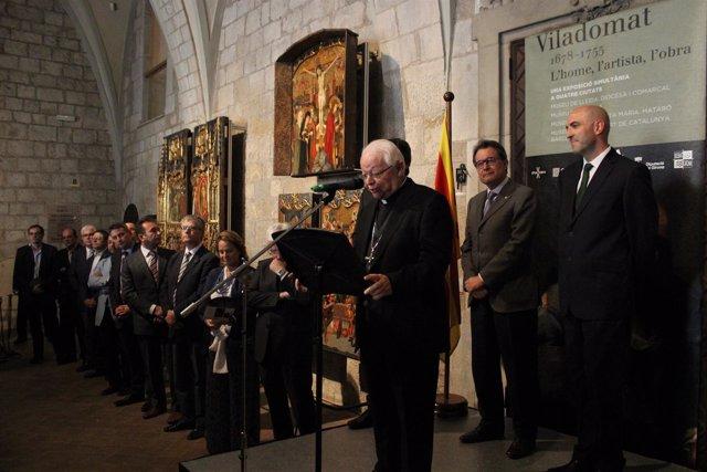 Artur Mas inaugura la exposición 'El pintor Antoni Viladomat'