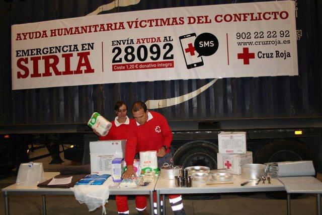 Envío de ayuda humanitaria a Siria, en imagen de archivo.