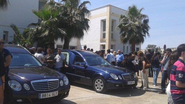Funera de las víctimas del accidente de minibús en Monterrubio de la Serena
