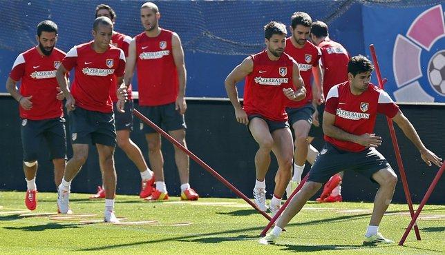 Diego Costa Atlético entrenamiento