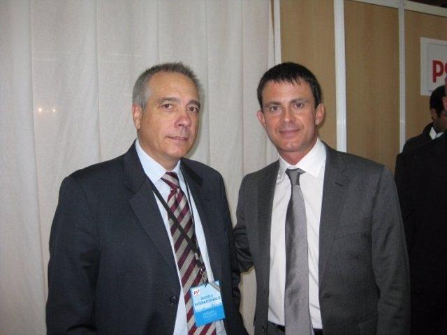 Pere Navarro y Manuel Valls