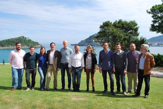 Dirigentes del PP vasco en Miramar