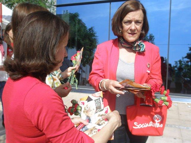 La candidata aragonesa de la lista del PSOE al Parlamento Europeo, Inés Ayala.
