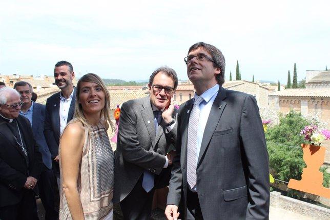 Artur Mas visita Temps de Flors